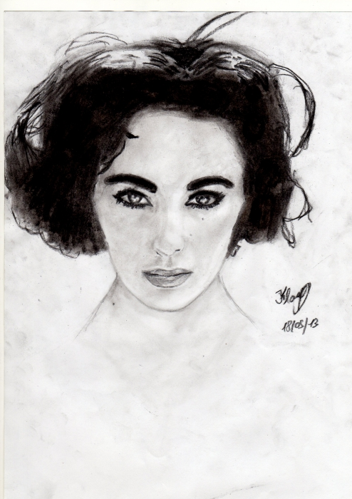Elizabeth Taylor by Flave